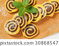 sweet chocolate rolls 30868547
