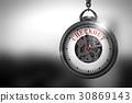Checkout on Vintage Pocket Clock Face. 3D 30869143