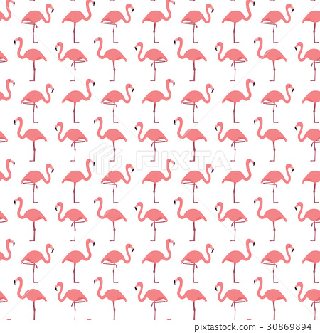 Seamless flamingo pattern 30869894