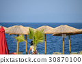 parasol on the beach 30870100