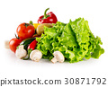 Still life with fresh vegetables stacked in a heap 30871792