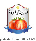 label of red tomato ketchup brand logo 30874321