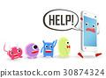 病毒 智能手機 手機 30874324