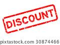 discount stamp vector 30874466