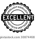 stamp, excellent, vector 30874468