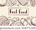 fast, food, vector 30875289