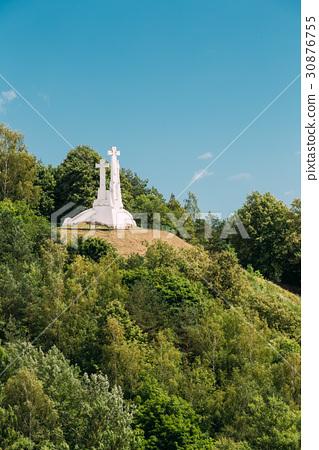 Vilnius, Lithuania. Famous White Monument Three 30876755