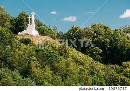 Vilnius, Lithuania. Famous White Monument Three 30876757