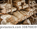 Many Paper Waste Background. Old Yellowed Keeping 30876839