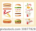 Poster with the ingredients for fast food 30877828