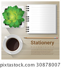 Stationery background with office equipment 30878007