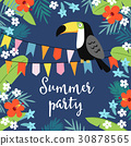 Summer party greeting card, invitation 30878565