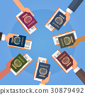 boarding,hand,passport 30879492