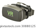 Virtual reality glasses, 3D rendering 30880125