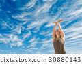 balance, female, outdoors 30880143