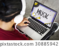 Music Pop Jazz Hiphop Melody 30885942