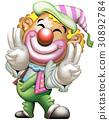小丑 王冠 雙和平手勢 30892784