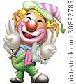 小丑 王冠 双和平手势 30892785