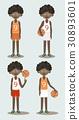 Basketball players set 30893601