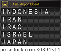Asia Country Airport Board Information 30894514