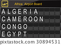 Africa Country Airport Board Information 30894531