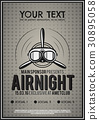 Party Leaflet, airplane brochure, cover, club 30895058