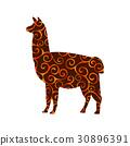 silhouette, zoo, animal 30896391