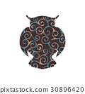 silhouette, zoo, animal 30896420