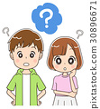 懷疑的少年男人和婦女 30896671