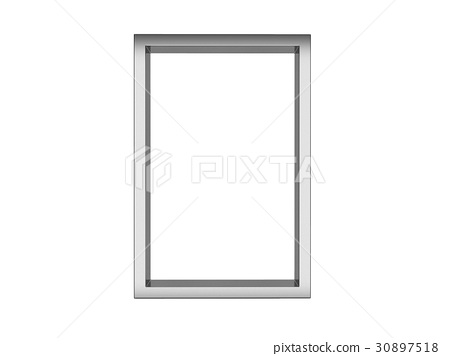 picture frame isolated on white, 3d renderi 30897518
