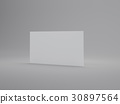 3D Rendering Business card isolated on white 30897564