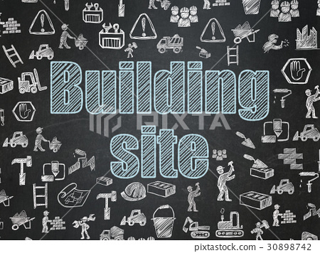 Building construction concept: Building Site on 30898742