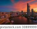 Chao Phraya River at Sunset, Bangkok, Thailand 30899999