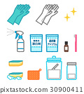 cleaning equipment, cleaning supplies, vector 30900411