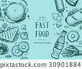 fast, food, vector 30901884