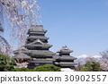松本城 國寶 春天 30902557