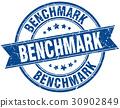 benchmark round grunge ribbon stamp 30902849