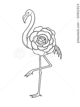 Cute graphic flamingo 30902924