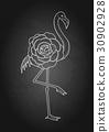 cute flamingo graphic 30902928