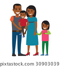Happy Parents with Little Children Flat Vector 30903039