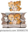 teddy, vector, couple 30906576