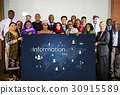 People connected global communication technology 30915589