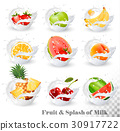 milk, vector, fruit 30917722