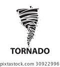 tornado icon stock vector illustration flat design 30922996