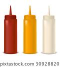 Realistic Detailed Bottle Set for Sauce, Mustard 30928820