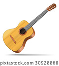 Realistic Detailed Acoustic Guitar Musical 30928868
