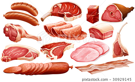 Different types of meat products 30929145