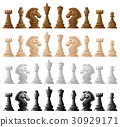 Four set of chess pieces 30929171