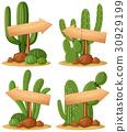 cactus, arrow, vector 30929199