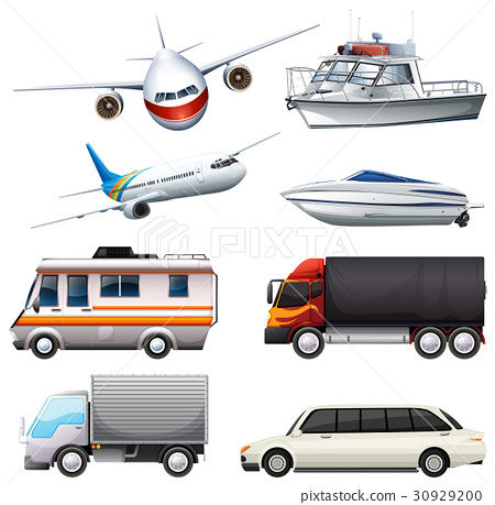 Different types of vehicles 30929200